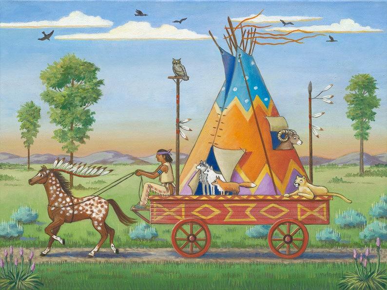 Road Trip  Giclée Print  Western Whimsicals by Marcia Wendel image 0