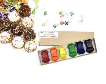 Car Crayons - Car Favors - Car Birthday Party Favors - Automobile Crayons - Auto Favors - Kids Birthday Gift - Boys Crayons - Toddler Gift