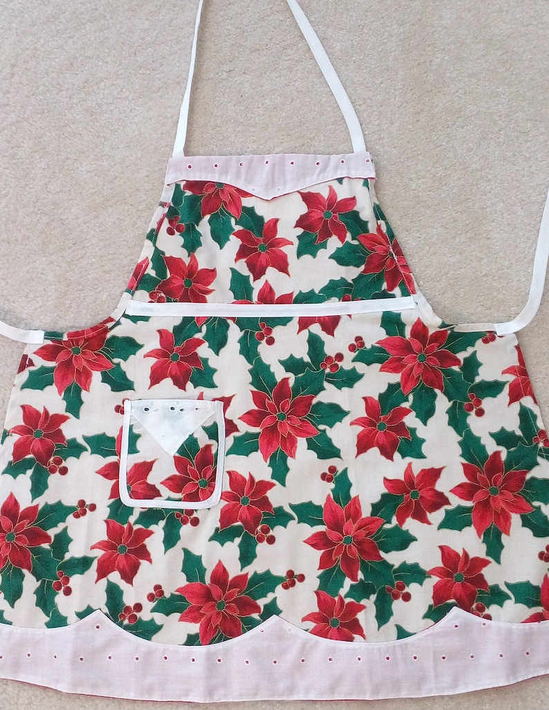 Girl/'s Beautiful Holiday Apron Size SM