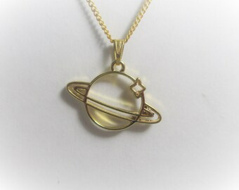 9a92a33987 Saturn necklace   Etsy