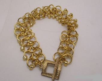 Gold Chain Maille Bracelet