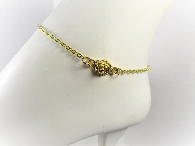 Goldplated Rose Anklet *Free Freshwater Pearl Earrings With Any Order While Supplies Last*
