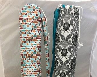 Adjustable Strap Customizable Yoga Mat Bag with Inside Lining