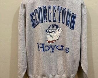 7b0a43e7 Georgetown Hoyas Logo Vintage Galt Sand Crewneck Sweatshirt Grey Men's Size  XL