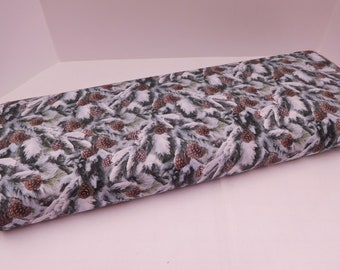 1252 Snowy Pine Branches; Fabric By the Yard; Fat Quarters to Full Yards