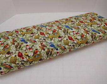 691 Beautiful birds fabric by the yard; Fat quarter to many yards; Colorful birds quilting fabric for bird lovers and bird watchers