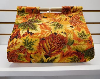 644 Fall Leaves Casserole Carrier; Autumn Decor; Fall Food Tote; fits many sizes and shapes of dishes; easy to carry