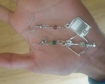 DC Green Arrow - Olicity - Oliver Queen and Felicity Smoak Inspired Earrings