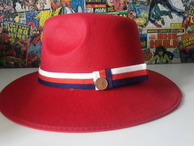 b15036d1 Marvel Agent Margaret Peggy Carter Red Hat Costume Cosplay | Etsy