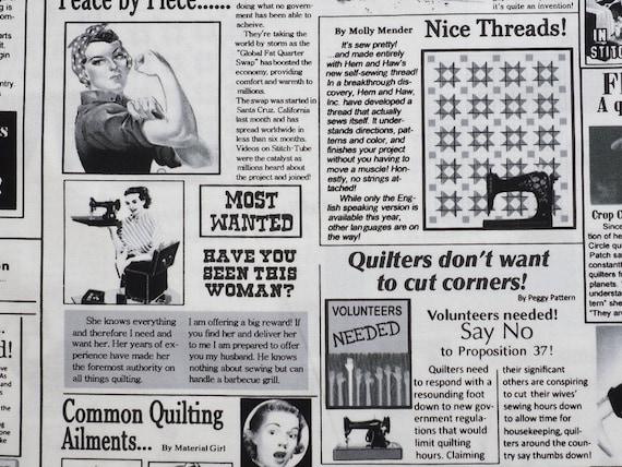 Quilting News Patchworkstoffe Patchwork Stoffe Zeitung Newspaper quilten nähen