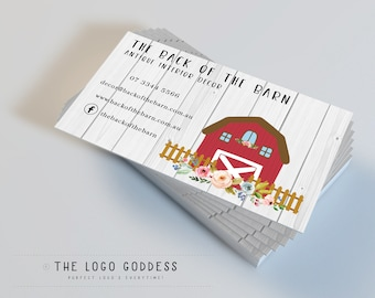 Farm business cards etsy business cards business card design rustic cards premade cards watercolour cards barn cards farm cards vintage cards colourmoves