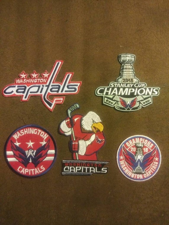best service eca8e 2dce4 Lot of 5 Washington Capitals 2018 Stanley Cup Champions Iron on or Sew  Backpack Canvas Jacket Pants Shirt Patches