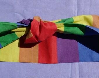 Rainbow Retro Headband- Queer Pride