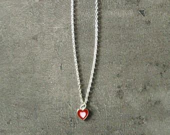 Heart Necklace, handmade, Made in France