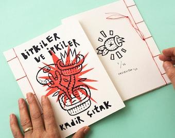 Linocut artist book: Bitkiler ve itkiler