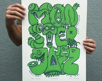 MonsterJazz Silkscreen Poster