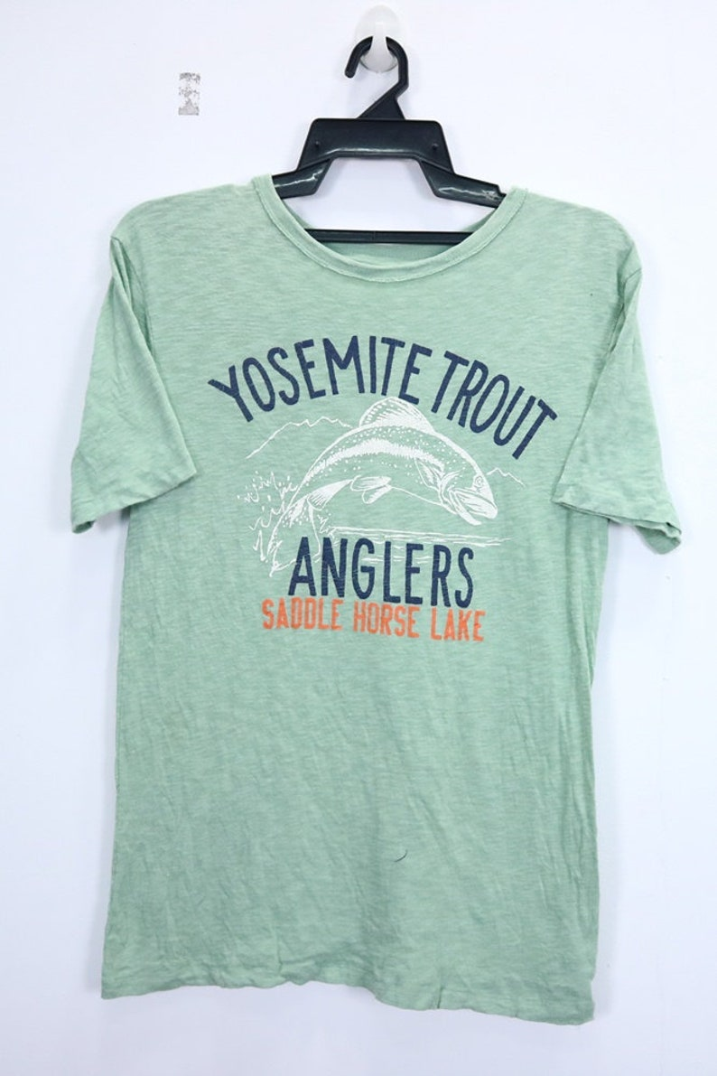 83fa3dce27c3c Vintage Yosemite Trout Anglers by GapKids T Shirt Big Logo Spellout Short  Sleeve Crewneck Streetwear Mens Shirt Extra Large Size