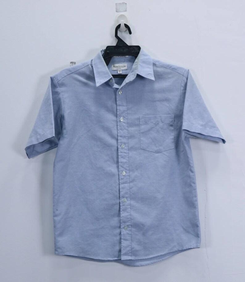 Col Taille Van Vintage Bouton BleueEtsy Chemise Couleur Heusen hQdstrC