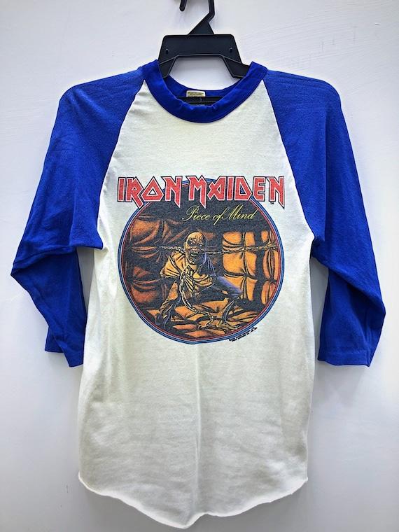 Vintage Iron Maiden Shirt / Piece of Mind 1983 Tou