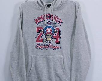 Vintage One Piece Tony Tony Chopper Sweatshirt Hoodie Japanese Pirates Anime Street Wear Medium size
