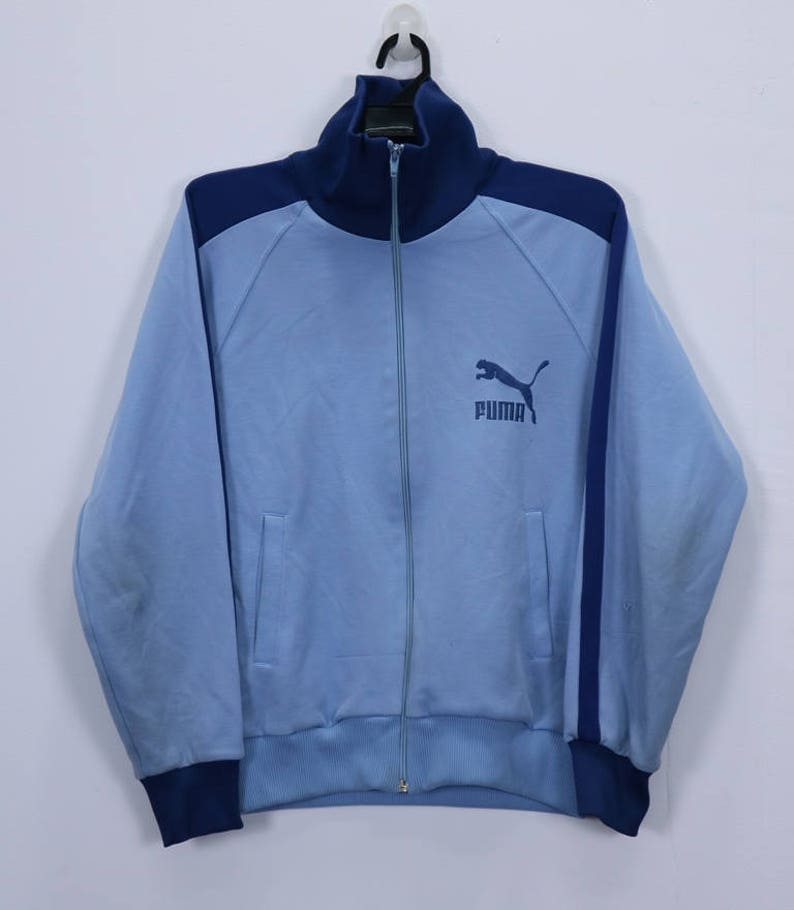 16d91d3fcbbb Vintage PUMA Jacket Sweater small Logo Embroidery spellout