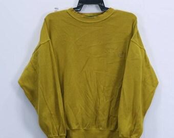 Vintage Kenzo Paris Golf Sweatshirt spellout small embroidery logo Crewneck size 4 Yellow colour