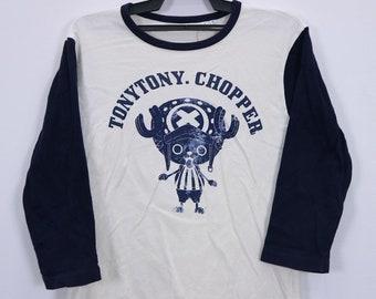 Vintage One Piece Tony Tony Chopper Anime Character T-Shirt Long Sleeve Big Logo Medium size