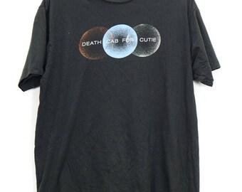 Vintage Rare Death Cab For Cutie Short Sleeve Black Colour Cotton Shirt