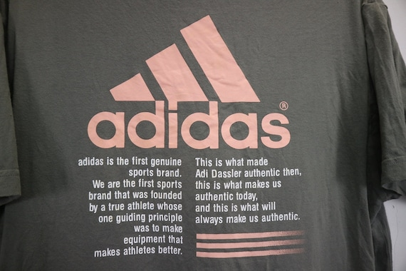 bcd7066d17955 Vintage Impossible is Nothing By Adidas T Shirt Big Spellout Short Sleeve  Crewneck Streetwear Mens Shirt Gray Color Medium Size