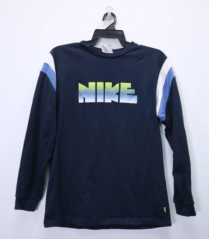 6fc40f75dee4a Vintage NIKE Sweatshirt Long Sleeve Big Logo Spellout Large size Streetwear  Sportwear