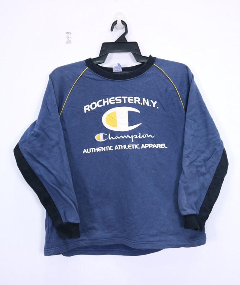 f7c6ea8af0e9 Vintage Rochester NY Champion Sweatshirt Big logo spellout