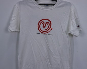 Vintage Champion Products T-Shirt Short Sleeve Big Logo White Colour Small size