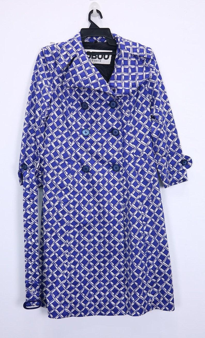 732660dded50a Vintage Nobuo Boutique Long Coat Long Sleeve womens coat Blue colour