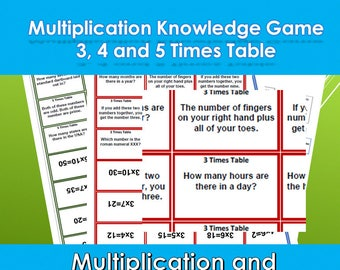 Multiplication Tables Facts Snap Game, Help With Times Tables, Maths Games, Teaching Activity,  Fun Learning , Solo Game or More