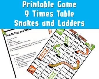 Blank Snakes And Ladders Template Pdf Colour Black And White Etsy