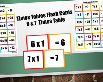 Printable Educational Kids Flash Cards 4 And 5 Times Table Etsy