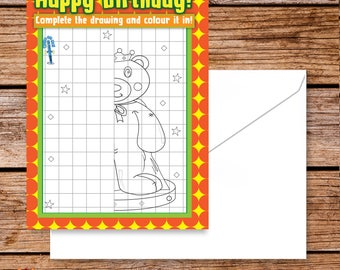 Unique birthday cards uk birthday wishes for gym buddy etsy colouring birthday card kids teddy bear birthday greeting cards interactive birthday cards colouring kids unusual birthday card m4hsunfo