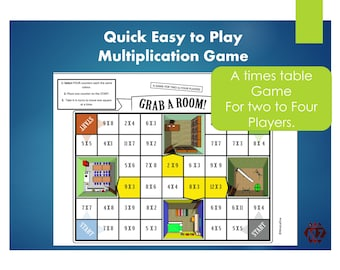 Multiplication Tables Board Game BUNDLE Printable Kids Activity, Teach Times Tables Ideas, Fun Learning,  Year 3, 4, 5, 6 Grade  2, 3, 4, 5
