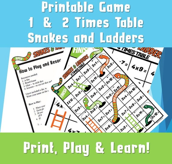 picture regarding Printable Maths Games and Puzzles named Snakes and Ladders printable 1/2 pdf/ multiplication online games printable youngsters/ Printable Occasions Tables/ Presents for kids/ Video games and Puzzles