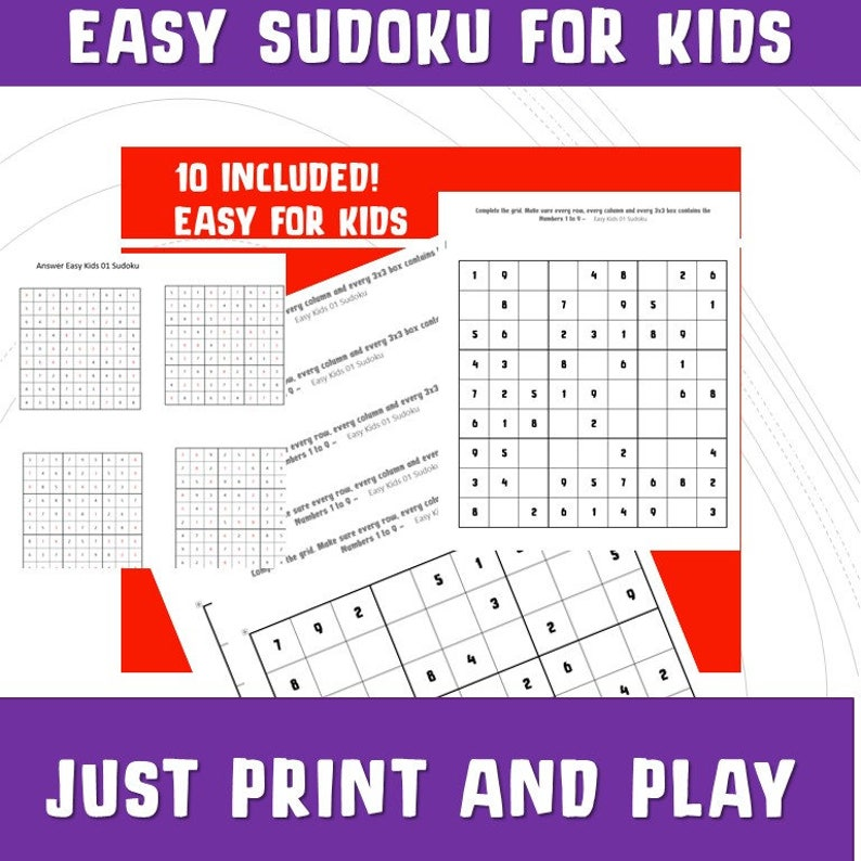 photograph regarding Sudoku for Kids Printable identify Printable Sudoku for Children/ Quiz Video games/ Small children Simple Sudoku/Printable Online games Math / Reward Celebration Board Game titles/ Things to do/ Drive Print Perform