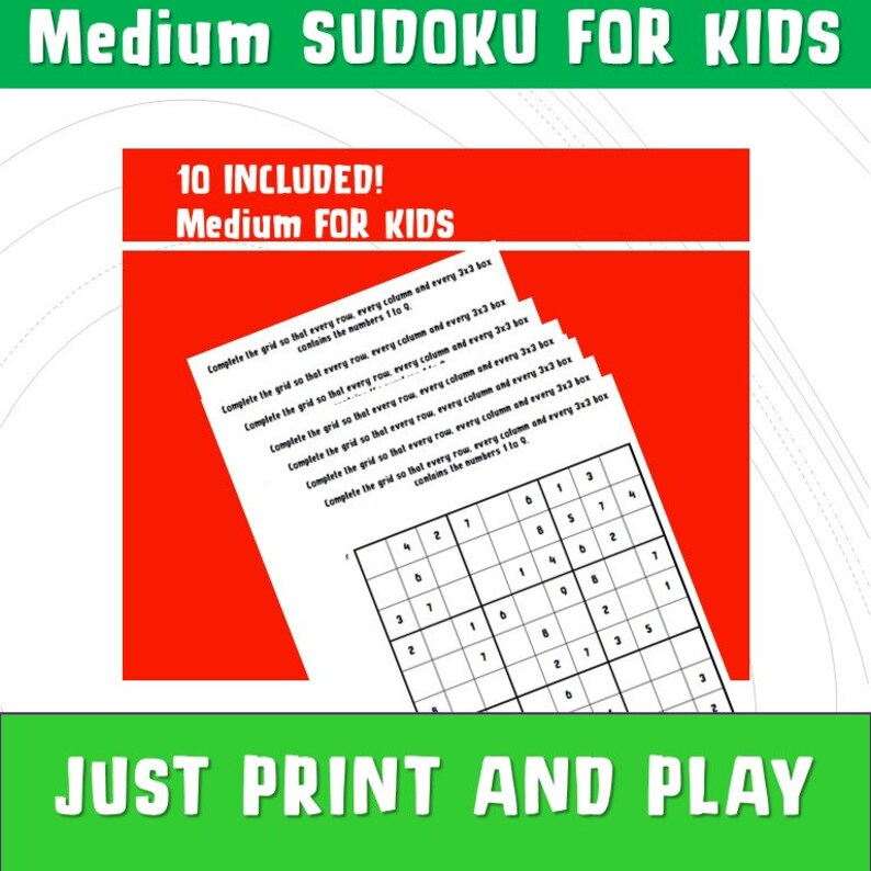 photograph relating to Sudoku for Kids Printable referred to as Maths Sudoku with Solutions/ Sudoku Printable/ Youngsters Printable Online games Math ks1 ks2 / Medium Sudoku/ Discovering and Faculty/ Sudoku pdf/ NinaLaZina