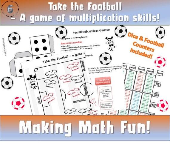 Football maths Games ks2/ Soccer Maths Games/ Multiplication
