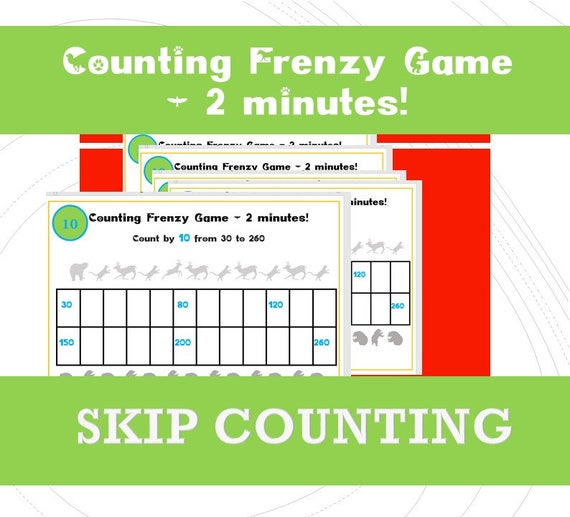 Skip counting Games for First Grade/ Year 2, 3/ Counting Games / Printable  in 2s Activities ks1/ Counting in 5s Game/ Count 3, 4, 5, 10