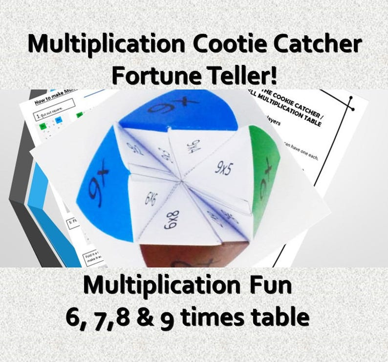 photograph relating to Printable Cootie Catcher Template named Fast Presents Youngsters /Printable Cootie Catcher Template/ Autistic / Maths Video games pdf/ Periods Desk Numeracy Youngsters Game titles ks2/ Origami/ Craft Recreation
