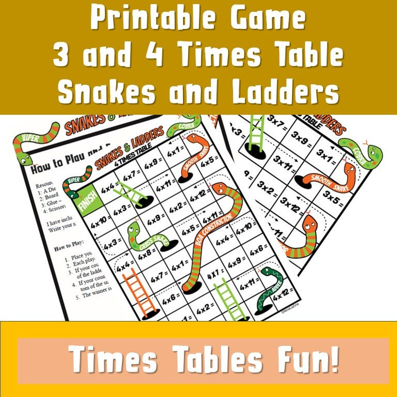 picture relating to Snakes and Ladders Printable referred to as Snakes and Ladders Printable a4/ Young children Printable Board Recreation Ks2/ Creating Maths further more Pleasurable/ Math Game titles pdf/ Multiplication game titles/ ks2 yr 4