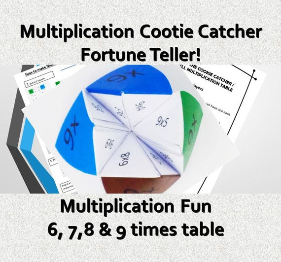 Cootie Catcher Template | Instant Gifts Kids Printable Cootie Catcher Template Grade Etsy