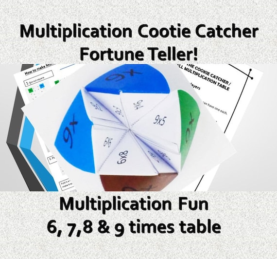 graphic about Printable Cootie Catcher named Fast Presents Children /Printable Cootie Catcher Template/ Autistic / Maths Game titles pdf/ Occasions Desk Numeracy Children Online games ks2/ Origami/ Craft Video game
