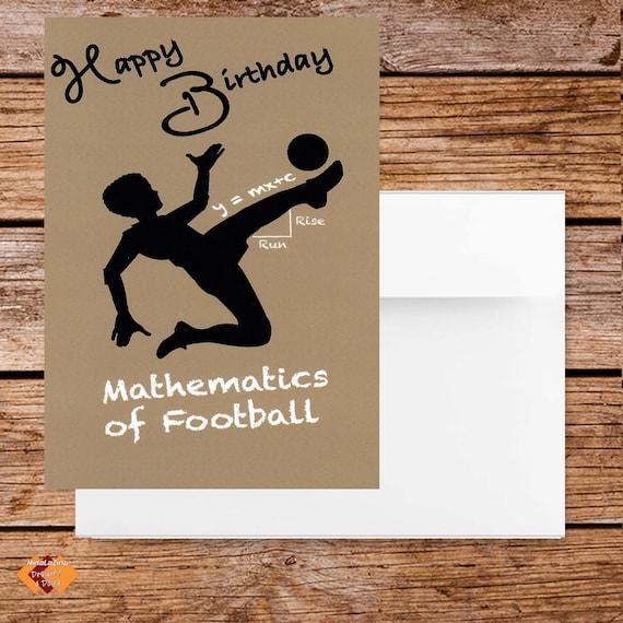 Alles Gute Zum Geburtstag Auf Mathematische Weise Fussball Etsy