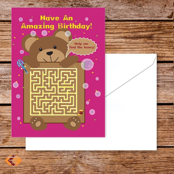 Kids Birthday Card Activity Maths Games For 5