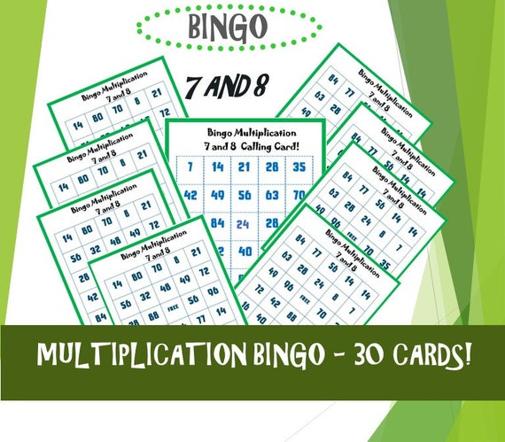 photograph about Multiplication Bingo Printable identified as Printable Bingo Sport Small children/ Kids Memory Video games/ Bingo Multiplication/ Maths Video games / Bingo Printable Things to do/ Push /ninalazina 7 8!